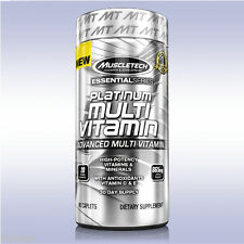 MUSCLETECH PLATINUM MULTI-VITAMIN (90 CAPLETS) antioxidants b6 b12 calcium zinc
