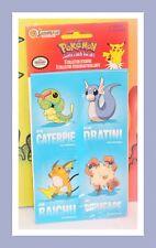 ❤️Vtg Sandylion Pokemon 8 Collector Stickers 2 Sheets Caterpie Dratini Raichu❤️