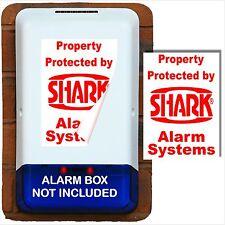 2 x Burglar Alarm Box Stickers-Security Signs forHome,Business-Portrait Design