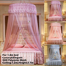 Ceiling-Mounted Mosquito Home Dome Foldable Bed Canopy Princess Quee