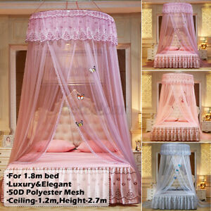 Ceiling-Mounted Mosquito Home Dome Foldable Bed Canopy Princess Queen