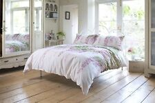 Stunning Floral Design Wisteria Duvet Cover Set Double Bed Size Pink Polycotton