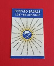 1987/88 NHL Buffalo Sabres Pocket Schedule***Marine Midland***