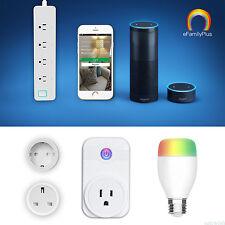 E27 Bluetooth Wifi Smart LED Glühbirne Glühlampe RGB Licht App Kontrolle W Alexa