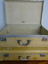 Vintage Pair Of Tizlite Lightwood Suitcases -Med & Lge- Collection Only BS11 9DB