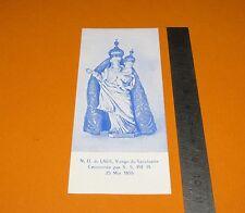 CHROMO 1956 IMAGE PIEUSE CATHOLICISME HOLLY CARD NOTRE DU LAU VIERGE COURONNEE