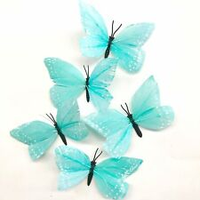 Feather Butterflies Style 2 x 5 Pack - Spearmint