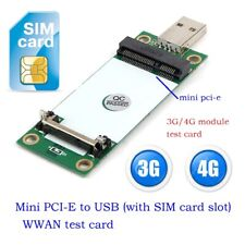 Mini PCI-e Wireless to USB Adapter card With SIM Card Slot for 3G 4G WWAN module