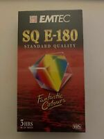 BRAND NEW - Blank EMTEC VHS SQ E-180 Sealed Video Tapes