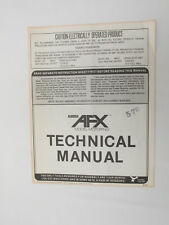AURORA AFX TECHNICAL MANUAL ~ 1976 ~ 8 PAGES ~ VERY GOOD COND ~ LOTS OF INFO!