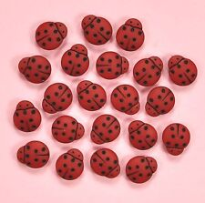 DRESS IT UP Buttons Little Lady Birds 1859 - Ladybugs Ladybirds Bugs