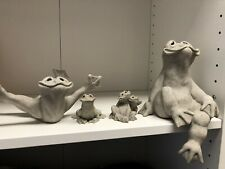 QUARRY CRITTERS CARVED STONE FROGS - Flip, Farkle, Fran, Fric & Frac