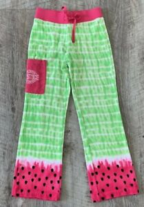 NEW JUSTICE GIRLS TERRY PINK GREEN WATERMELON SWIM COVER UP PANTS SIZE 8
