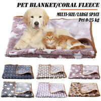 Pet Cat Blanket Flannel Fleece Pad Sleeping Cover Kennel Pad Puppy Dog Bed Mat