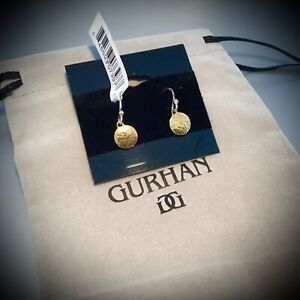 GURHAN 24K YELLOW GOLD PLATED STERLING SILVER  EARRINGS NWT