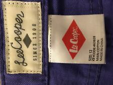 Lee Cooper purple lacing side size 12 shorts mid rise - fits more AU 8 or AU10