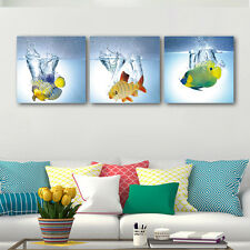 Modern Abstract Art Print Canvas Home Office Decor Wall Art-Fish (with Frames)