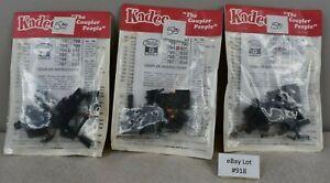(Lot #918) G Gauge Kadee Knuckle Couplers #831 Lot of 3 Sets NOS