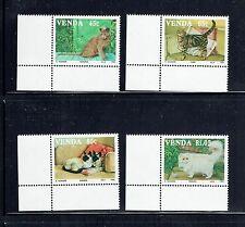 VENDA 253-56 (SINGLES) & 254a (S/S), 1993 CATS, MNH (ID3828)