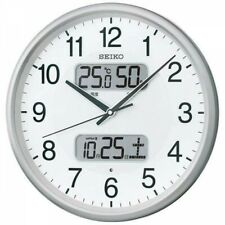 SEIKO Wall clock Radio Wave Analog Silver metallic KX383S  4517228035081