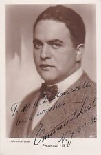 EMANUEL LIST opera bass signed photo 1935