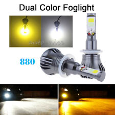 2PCS 880 White&Amber Fog Light Driving Bulbs DRL COB LED For Chevrolet Ford GMC