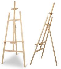5ft Artist Studio Display Easel 'A' Frame Wooden Pine 150cm High Adjustable J145
