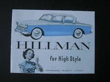 Hillman Minx 1958/59 Sales Brochure