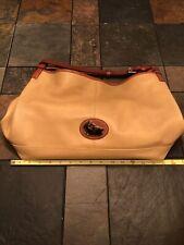 Dooney & Bourke Purse Taupe Leather Handbag Satchel, # J1680006