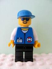 LEGO Minifig res008 @@ Coast Guard City Center White Collar Sunglasses 6435 6437