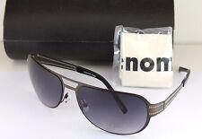 NEW AUTHENTIC RENOMA RUBEN  0513 Brown Stainless Steel Aviator Sunglasses NWT
