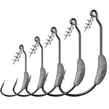 Weighted Offset Worm Hooks w/ Twist lock~ Choose Size / Weight FREE shipping