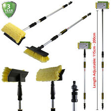 Car Wash Brush Telescopic Handle Vehicle Cleaning Tool Soft Truck Boat Mop 2M UK
