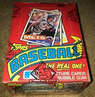 1985 TOPPS MLB Baseball Card BOX 36 Unopened Wax PACKS Sealed BBCE Wrapped