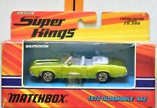 MATCHBOX CLASSIC SUPERKINGS 1970 OLDSMOBILE 442 GREEN LIMITED EDITION W+