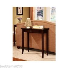 Entry Hall Foyer Sofa Home Wood Small Console Table Furniture Brown With Drawer