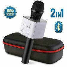 Q7 Karaoke Microphone Wireless Bluetooth Handheld Mic Ktv Usb Speaker Player