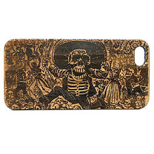 Day of the Dead Case made for iPhone 8 Plus phones Bamboo Wood Cover Mexican
