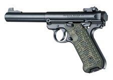Hogue Grip For A Ruger MK IV Piranha Grip G10 - G-Mascus Green 79138