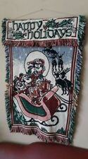 ~ Vintage Large Disney Wool Tapestry Wall Hanging ~  Perfect Gift Xmas 🎄🎄