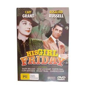 His Girl Friday Movie DVD Region 4 AUS Free Postage - Romantic Comedy