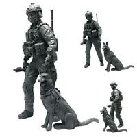 1 X 1:35 Modern American Special Forces and Military D5O6 Dogs Soldi Resin O3T7