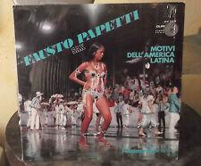 """LP 12"""" FAUSTO PAPETTI SAX I REMEMBER N.5 MOTIVI DELL'AMERICA LATINA 1969"""