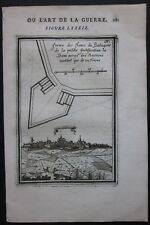 1684 PHILIPPEVILLE view etching Alain Manesson Mallet fortifications Flipveye