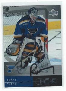 Roman Turek Signed 2000/01 Upper Deck Ice Card #35