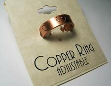 BUY 1 GET 1 FREE SOLID COPPER RING WITH HEARTS pain relief adjustable style #F