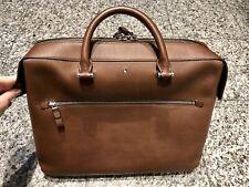 MONTBLANC Brown Leather Briefcase Laptop Attache Bag