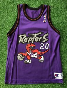 Vintage Champion 90s NBA Toronto Raptors Jersey Stoudemire Men's 40 USA