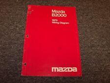 1979 Mazda B2000 Pickup Truck Factory Original Electrical Wiring Diagram Manual