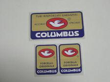 adesivi stickers per bici da corsa vintage columbus 3 pezzi